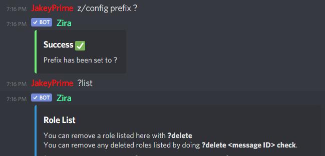 z/config prefix